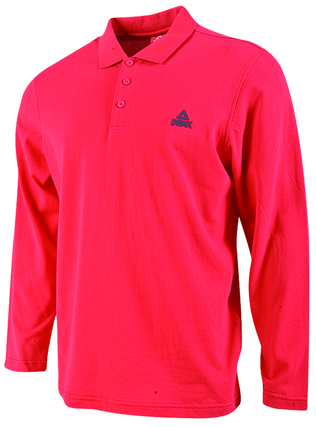 peak long sleeves polo shirt