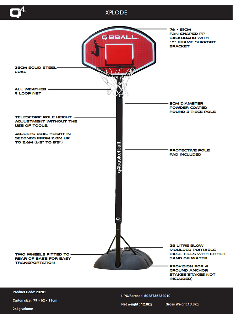 basketball system xplode youth