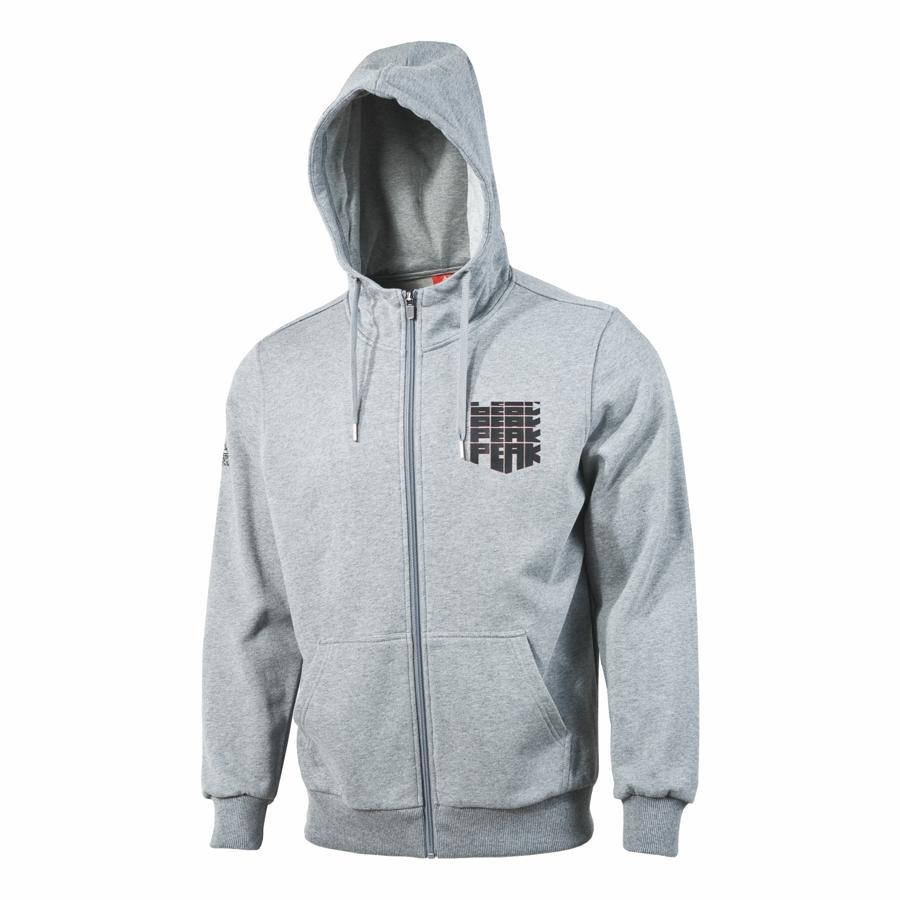 peak hoodie sweater with front zipper
