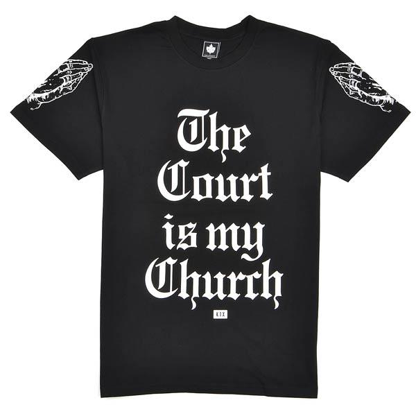 k1x the court Is my church tee